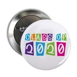 "Colorful Class Of 2020 2.25"" Button"