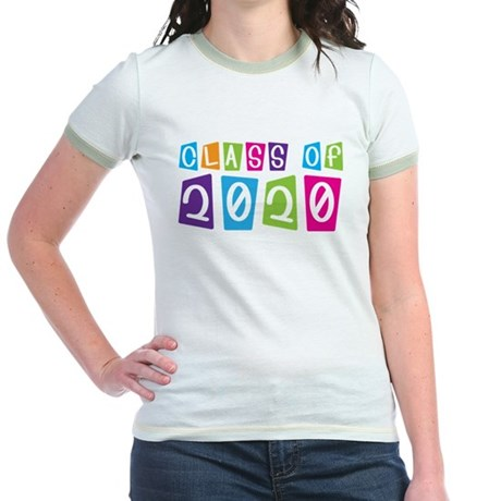 Colorful Class Of 2020 Jr. Ringer T-Shirt