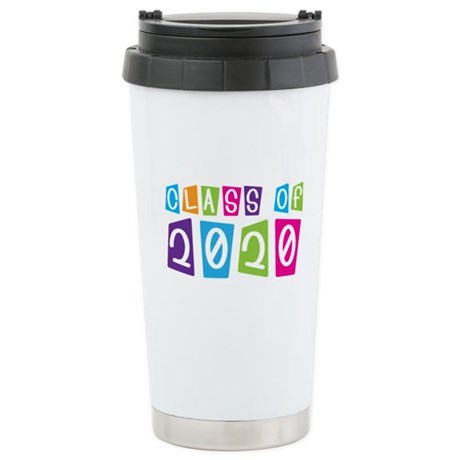 Colorful Class Of 2020 Stainless Steel Travel Mug