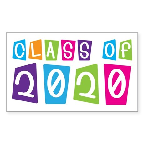 Colorful Class Of 2020 Rectangle Sticker 50 pk)