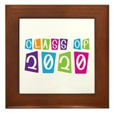 Colorful Class Of 2020 Framed Tile
