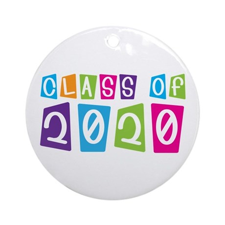 Colorful Class Of 2020 Ornament (Round)