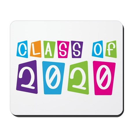 Colorful Class Of 2020 Mousepad
