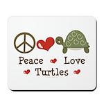 Peace Love Turtles Mousepad