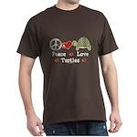 Peace Love Turtles Dark T-Shirt