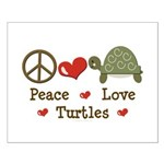Peace Love Turtles Small Poster