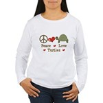 Peace Love Turtles Women's Long Sleeve T-Shirt
