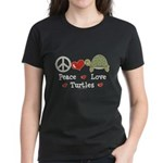 Peace Love Turtles Women's Dark T-Shirt