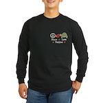 Peace Love Turtles Long Sleeve Dark T-Shirt