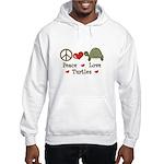 Peace Love Turtles Hooded Sweatshirt