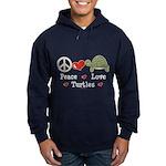 Peace Love Turtles Hoodie (dark)
