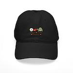 Peace Love Turtles Black Cap