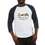 Peace Love Turtles Baseball Jersey