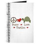 Peace Love Turtles Journal