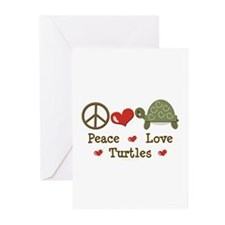 Peace Love Turtles Greeting Cards (Pk of 20)
