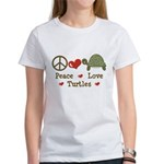 Peace Love Turtles Women's T-Shirt