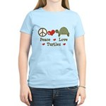 Peace Love Turtles Women's Light T-Shirt