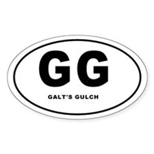 Galt's Gulch Oval Decal