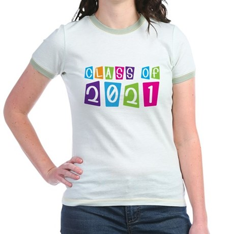 Colorful Class Of 2021 Jr. Ringer T-Shirt