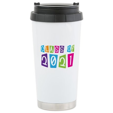 Colorful Class Of 2021 Stainless Steel Travel Mug