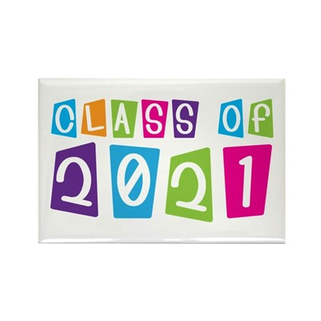 Colorful Class Of 2021 Rectangle Magnet