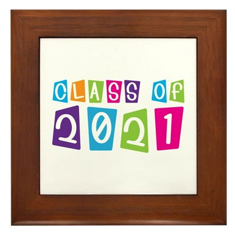 Colorful Class Of 2021 Framed Tile