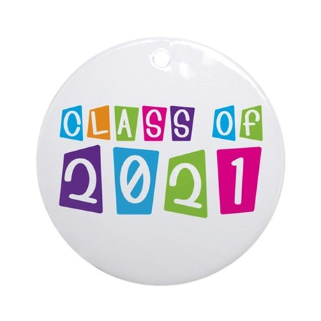 Colorful Class Of 2021 Ornament (Round)