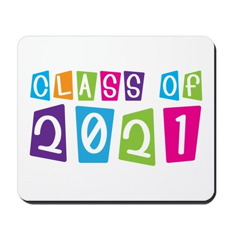 Colorful Class Of 2021 Mousepad
