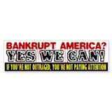 Bankrupt America Bumper Car Sticker