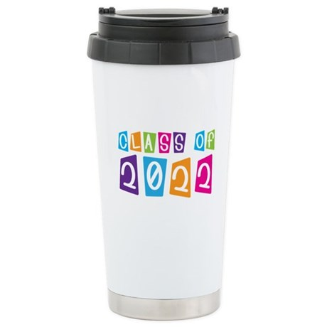 Colorful Class Of 2022 Stainless Steel Travel Mug