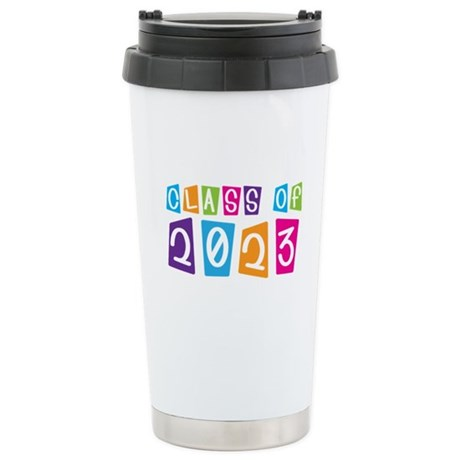 Whimsical Class Of 2023 Stainless Steel Travel Mug