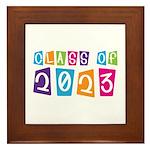 Whimsical Class Of 2023 Framed Tile