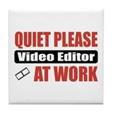 Video Editor Work Tile Coaster
