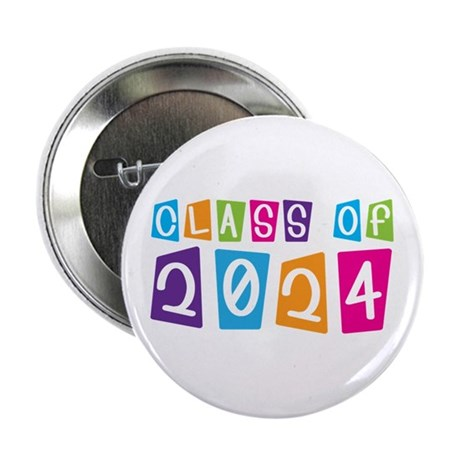 "Colorful Class Of 2024 2.25"" Button"
