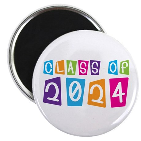 Colorful Class Of 2024 Magnet