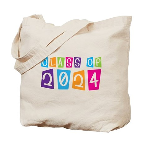 Colorful Class Of 2024 Tote Bag