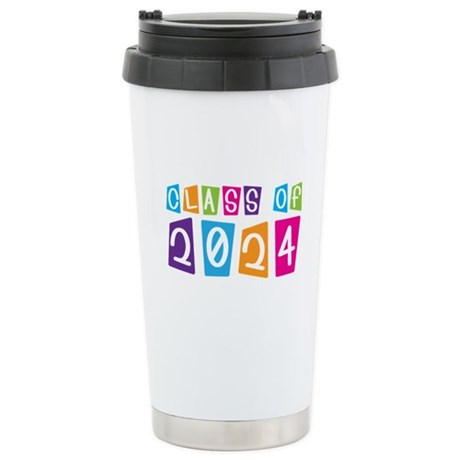 Colorful Class Of 2024 Stainless Steel Travel Mug