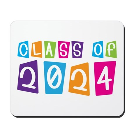 Colorful Class Of 2024 Mousepad