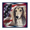 Saluki Patriotic USA Flag Tile Coaster