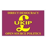 UKIP Direct Democracy Rectangle Decal