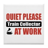 Train Collector Work Tile Coaster