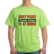Tennis Player Work T-Shirt