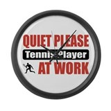 Tennis Player Work Large Wall Clock