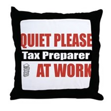 Tax Preparer Work Throw Pillow