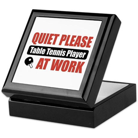 Table Tennis Player Work Keepsake Box