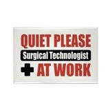 Surgical Technologist Work Rectangle Magnet