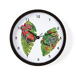 Leaf Frogs Wall Clock