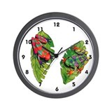 Leaf Frogs Wall Clock