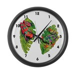 Leaf Frogs Large Wall Clock