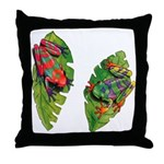 Leaf Frogs Throw Pillow